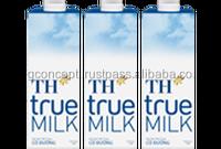 TH True Milk Sterilizied Milk 1L - Sugar / Wholesale UHT Milk / Long Life Milk