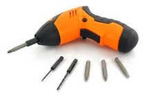 2-in-1 Cordless Adjustable Electric Drill and Screwdriver - Set of 45