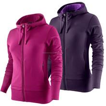 Ladies zippered hoodies