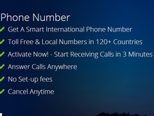 Internacional frete número com base no PSTN telefone Crystal Clear
