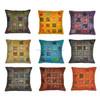 "Indian Cushion Cover Cotton Throw Pillow Case Ethnic Floor Pillow Cover Home Decor 16""x 16''"