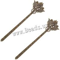 Zinc Alloy Bookmark Flower antique bronze color plated also can be used as hair stick nickel lead & cadmium free 36x135mm 100PC