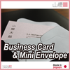 Gray mini envelope to pass to put the shop card and business cards