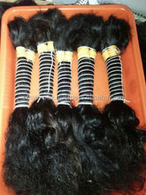 Good feed back bulk hair.Natural brown bulk hair.Best texture and good smooth and soft touch bulk indian vrigin human hair from