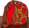 Wayuu Mochila Red color design. Big Size. STOCK !!!!