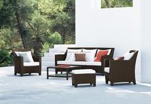 Manchester wicker garden sofa set Furniture - Poly rattan outdoor sofa set