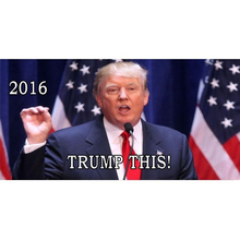 Trump This 2016 Photo Metal License Plate - discounts available, click on picture to view