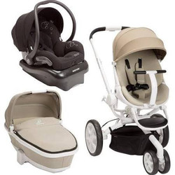 Quinny Moodd Stroller Travel System Natural Delight Black with Bassinet