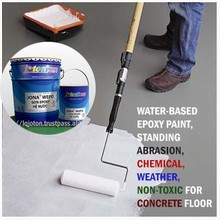 Water based Epoxy Paint, standing chemical, abrasion, weather, NON-TOXIC for Concrete Floor JONA WEPO