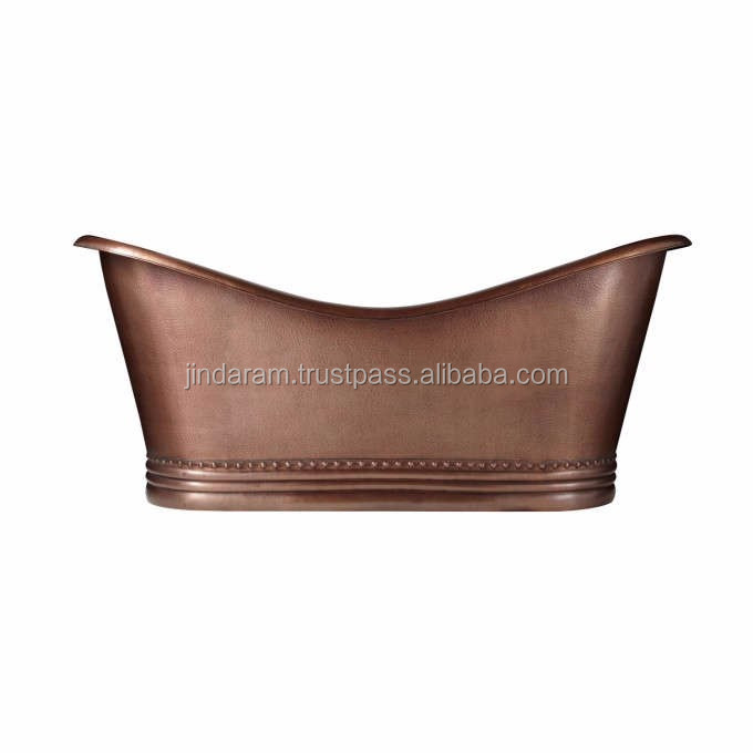 Pure Copper Elegant Bathtub for Resorts.jpg