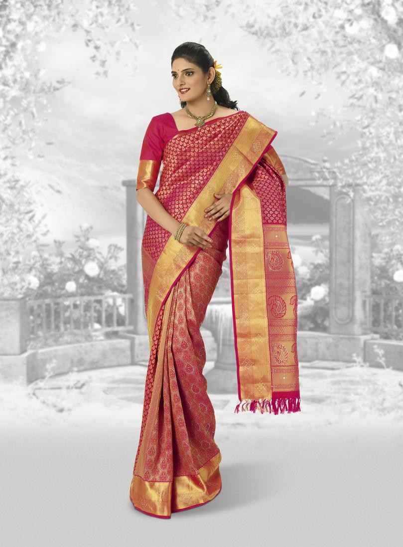 Pure Silk Kachivaram South Indian Wedding Pooja Saree Collection