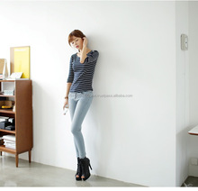 top international clothing brands women wholesale cheap price jeans with whisker