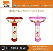 Separate Washroom Hand Craft Wash Basin Dealer Price