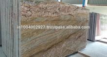 Imperiale oro pavimenti in piastrelle lastre di granito in levigato fiammato spazzolato finiti in pelle antichi