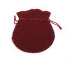 Velveteen Drawstring Pouches, Rectangle, claret, 80x95x0.50mm, 200PCs/Bag, Sold By Bag