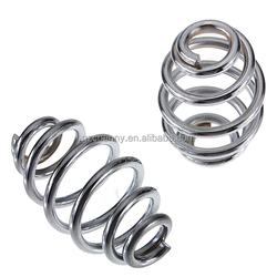 3 Inch Chrome Motorcycle Solo Seat Springs Set For Harley Chopper Bobber