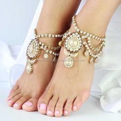 Anklets PAYAL CRYSTAL BAREFOOT SANDAL