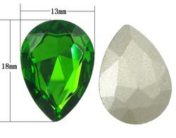 Crystal bochons Teardrop rivoli ba & faceted Fern Green 13x18mm 144PCs/Bag Sold By Bag