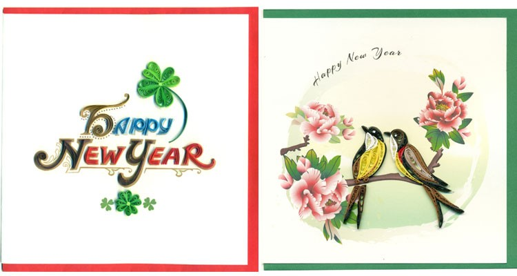 Happy New Year Theme,Quilling Paper Greeting Cards - Buy Quilling ...