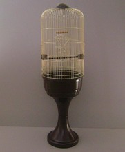 Pet Bird Parrot Huge Brass Cage With Stand