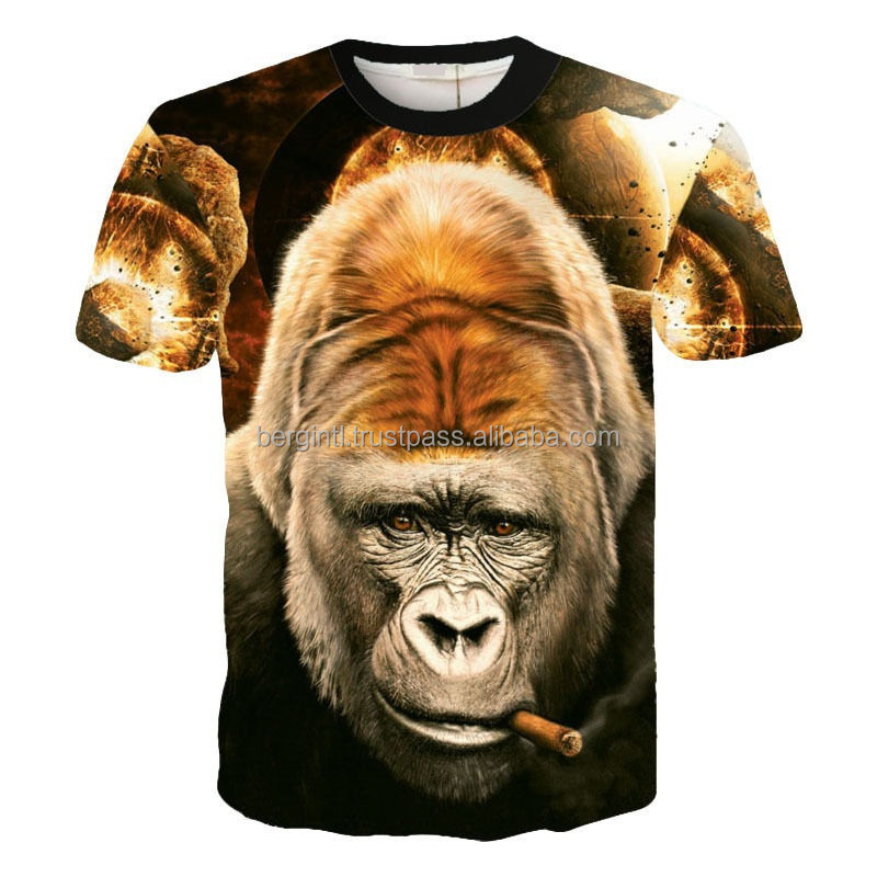 3d Dye Sublimation T Shirt All Over Print Sublimation T