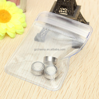 100pcs Coins Bag Clavicular Jewelry Self Sealing Zipper Sealed Transparent Plastic Bag PVC Material 50x50mm