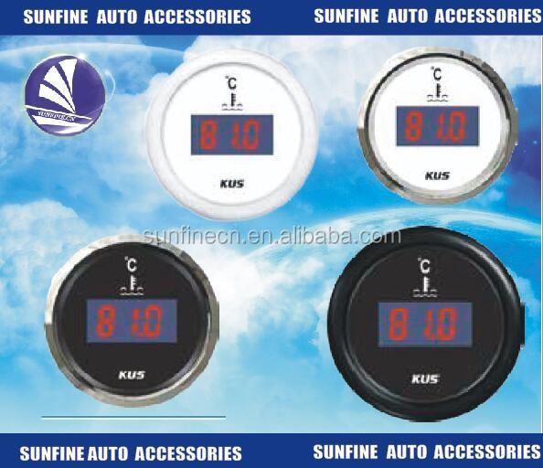 "HOTSYSTEM 2/"" 52mm Blue Digital LED Fahrenheit Water Temp Temperature Gauge Black"
