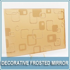 frosted decorative mirror