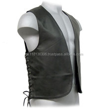 Western Style Custom Fashion Casual PU Leather Vest For Men