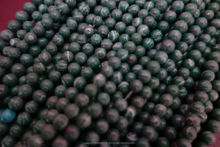 13INCH NATURAL MALACHITE 6MM SMOOTH ROUND BEADS SINGLE STRAND@AG13