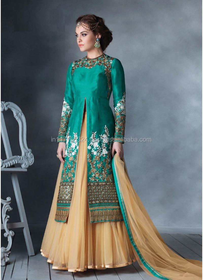 Indian Bridal Anarkali Suits\\heavy Work Anarkali Salwar Kameez ...