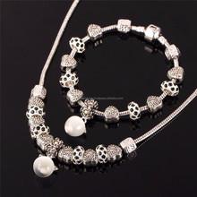 Hot Sale Wholesale Opal Apple Bracelet and Necklace Set Copper Jewelry Set