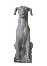 Gray Welcome Dog Statue In Door Statue Hand Carving Marble Stone For Garden, Hotel, Resort And Restaurant