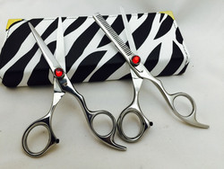 "6""Professional Hair Cutting & Thinning Scissors Barber Shears Hairdressing Set"