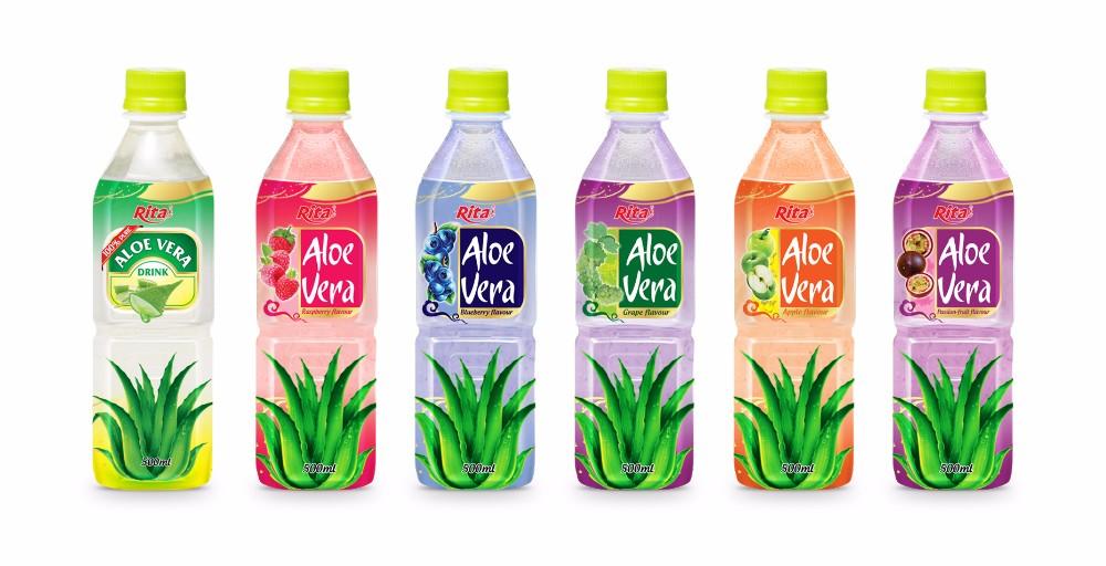 500ml Pet Bottle aloe vera juice with  fruit juice.jpg