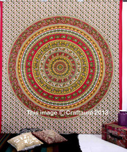 Indian Tapestries Wall Hanging Elephant Mandala Throw Double bedspread 100% Cotton Bedding Bed sheet Bohemian Dorm Decor
