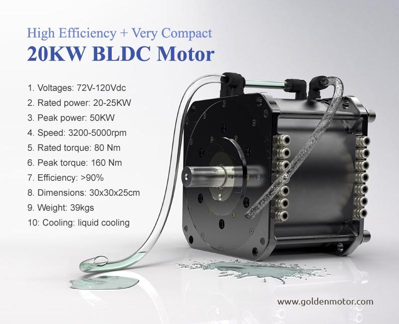 Haute puissance BLDC moteur 20KW électrique kit de conversion de voiture