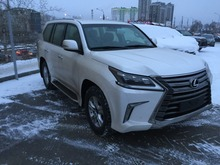 LEXUS LX450d 2016 4.5 DIESEL 272Hp WHITE/BROWN READY TO EXPORT FROM RUSSIA