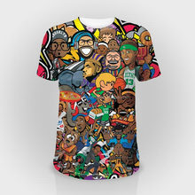 all over dye sublimation printed t-shirts