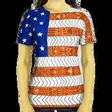 american flag printed short sleeves t shirt