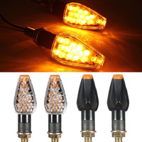 New Pair Dual Auto Motorcycle 14LED Turn Signal Light Blinker For BMW For Honda For Suzuki