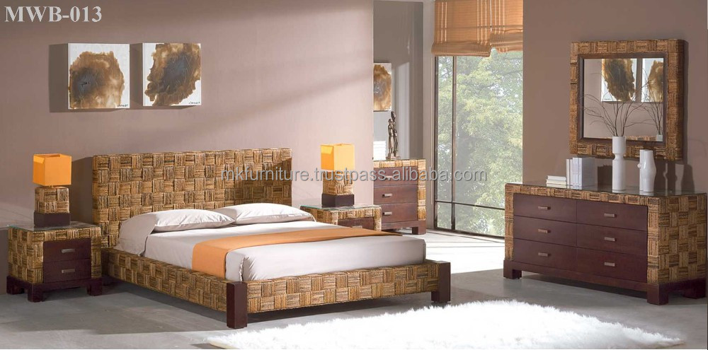 santa cruz wicker and rattan bedroom 4 pc set from seawinds ...