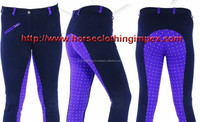 Horse Clothing Impex Horse Riding Knitted Print Two-Tone Jodhpurs