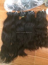 Factory price natural wavy hair hight quality not dye - No tangle 100% remy human double drawn hair