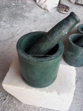 Colorful Green Marble Mortar And Pestle Crushing Food Herbs Spices Pills
