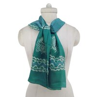 """Indian Clothes Pure Silk Scarf Light Weight Long Neck Wrap Fashion Scarves 70"""" X 20""""SFP5747"""