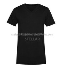 Plain Mens V Neck T Shirt Made Of 100% Cotton Slim Fit Style