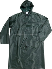 Rubberised Raincoat with hood- Navy