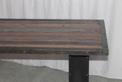 Industrial Pillar Dining table with wooden top