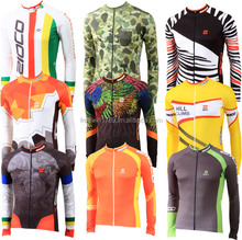 ZIOCO fleece long sleeves cycling jersey autumn winter bicycle wear